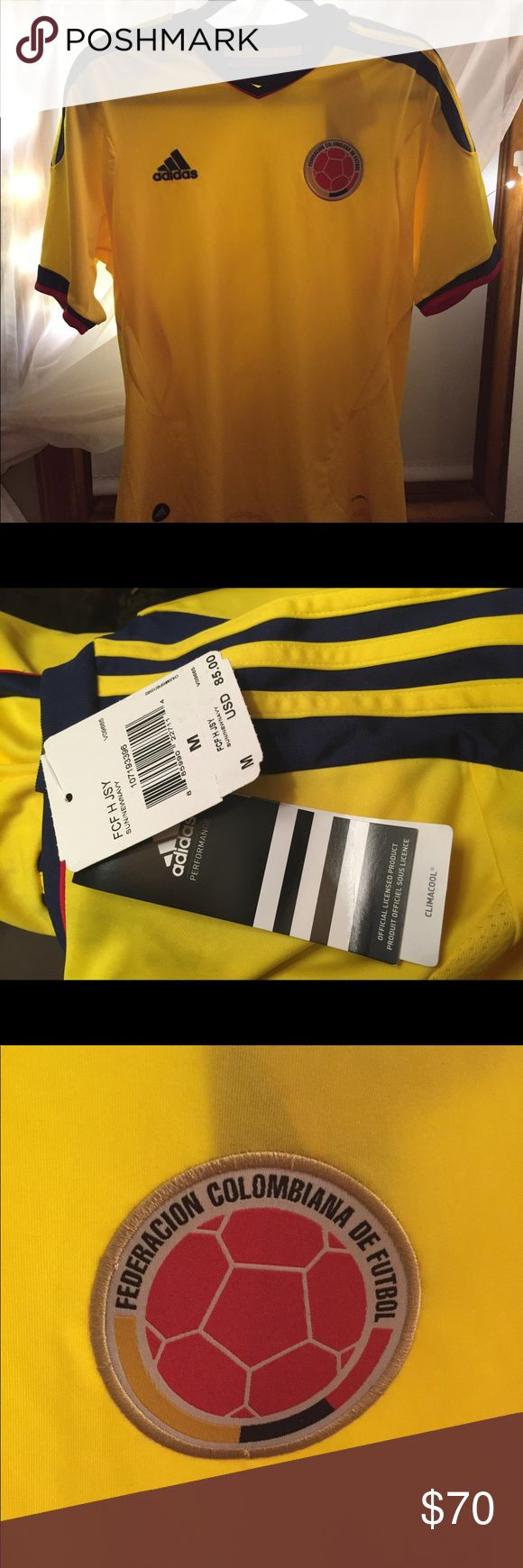 Men's Colombia soccer jersey Adidas NEW with tags Men's medium soccer jersey. Adidas. Colombia. New with tags (seen in photo). adidas Tops Tees - Short Sleeve