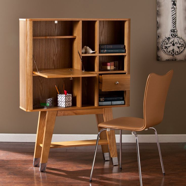 Southern Enterprises Larissa Modern Fold-Down Desk - Save desk space within your home with the Southern Enterprises Larissa Modern Fold-Down Desk. Unique in design, this sturdy fold-down desk is craf...