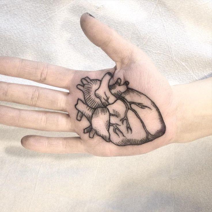 palm tattoo, toronto , dotwork  ,blacktattoo