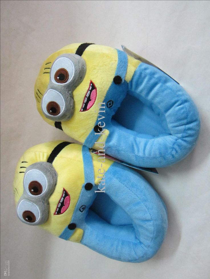 Wholesale Despicable Me Minion Plush Stuffed Slippers Cuddly Fluffy Collectible Jorge 11, $12.62/Pair | DHgate