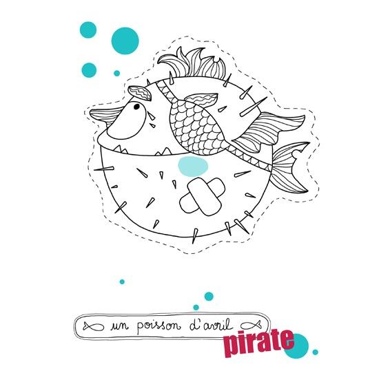 Poisson d'avril à imprimer façon pirate ! Par Astrid M