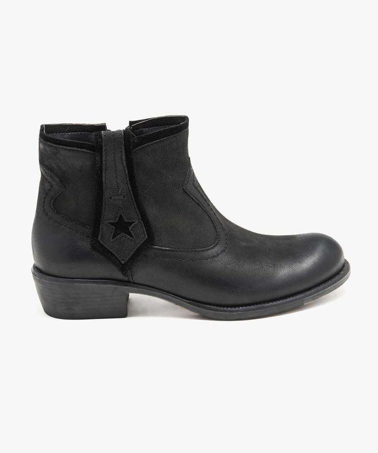 bottines cuir noires gemo 45 euros t`34