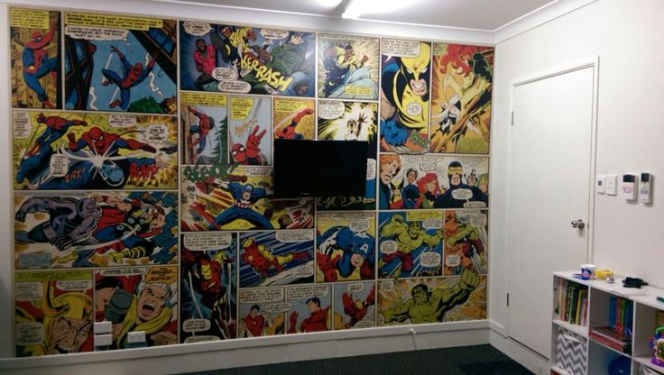 Leo's Playroom Wallpaper! Done!