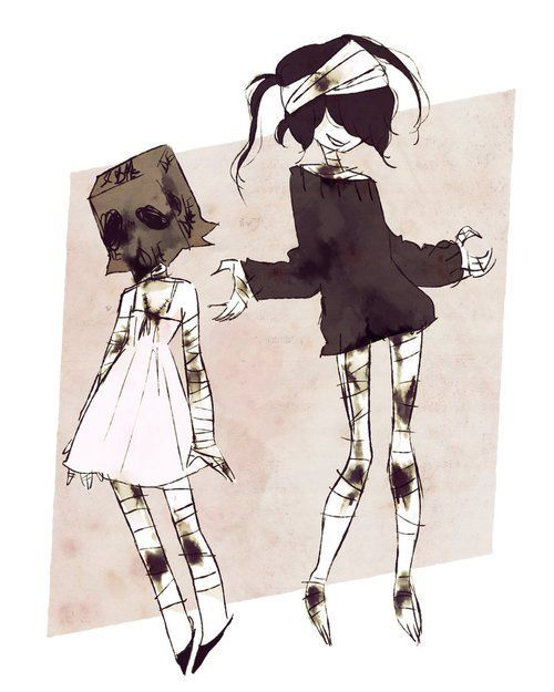 Little monster Marylyn (left). She is cute and sweet heart. Listen to me don't touch her. If you want she mad touch her, she'll transform to Marie (right). Marie is bloody. She can kill everyone. Give her, more blood.  Little monster Marilyn. Her personality is bad.    Code name: Monstar
