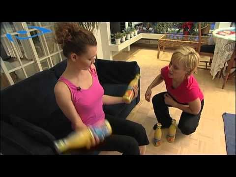 Elixir - Kotikuntoilu naiset - Hauiskääntö mehupulloilla. How to train your biceps with bottles of juice.