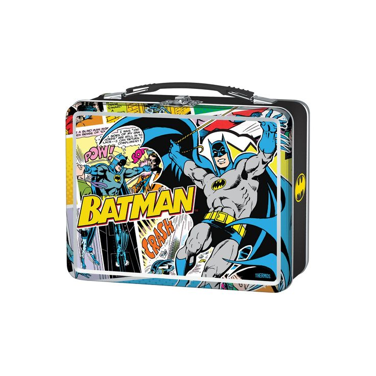 Thermos Metal Lunch Box - Batman (Red)