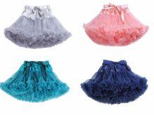 Детские девушки пушистые шифон pettiskirts пачка девушки юбка танца носить рождество подарок на день рождения ну вечеринку юбки бесплатная доставка(China (Mainland))