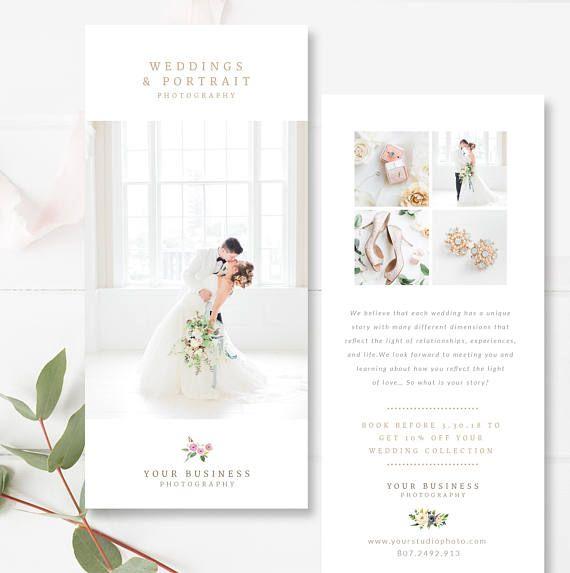 Wedding Photography Marketing Card 4x8 Psd Card Promo Card Etsy Wedding Photography Marketing Photography Marketing Wedding Marketing