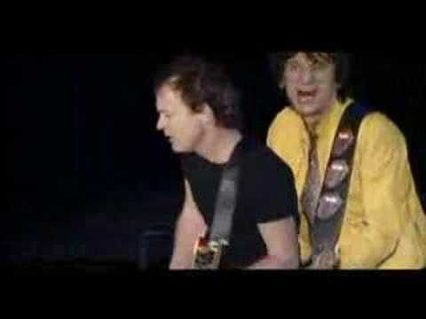 "Really! The Rolling Stones with Angus and Malcolm Young of AC/DC - ""Rock Me Baby"" (Germany, 2003)."