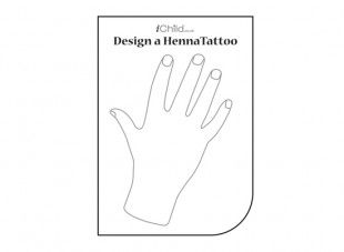 Your child can use this blank template of a hand, to draw and decorate their own henna tattoo for Diwali.