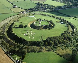 The original Salisbury, Old Sarum, 2 miles north of where the city stands now. The mighty Iron Age hill fort was where the first cathedral once stood and the Romans, Normans and Saxons have all left their mark.