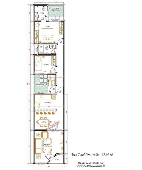 34 best plantas ks images on Pinterest Small houses, Small homes - plan maison plain pied 80m2