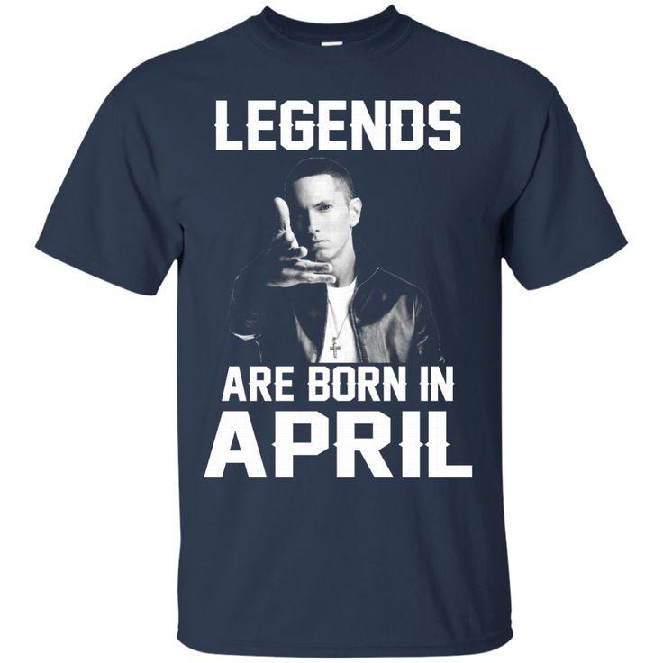 Eminem T-shirts Legends Are Born In April Hoodies Sweatshirts