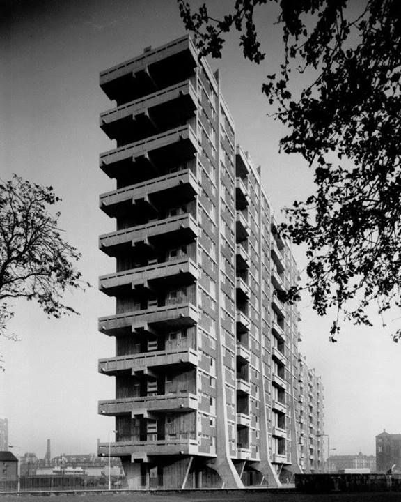 Queen Elizabeth Square Glasgow, Scotland Architect: Sir Basil Spence Photo: © Sir Basil Spence Archive