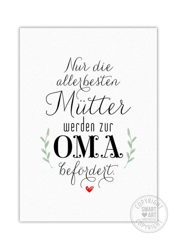Mama Und Oma Smart Art Kunstdrucke Poster Deko Bild Geschenk Kunst Muttertag Familie Mutter Beste Mama Mothers Day Crafts Mothers Day Crafts For Kids Mothers Day Cards