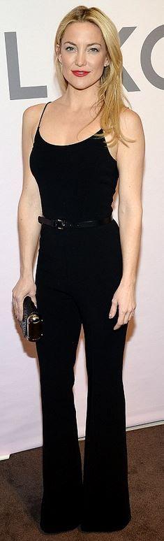 Kate Hudson, black jumpsuit