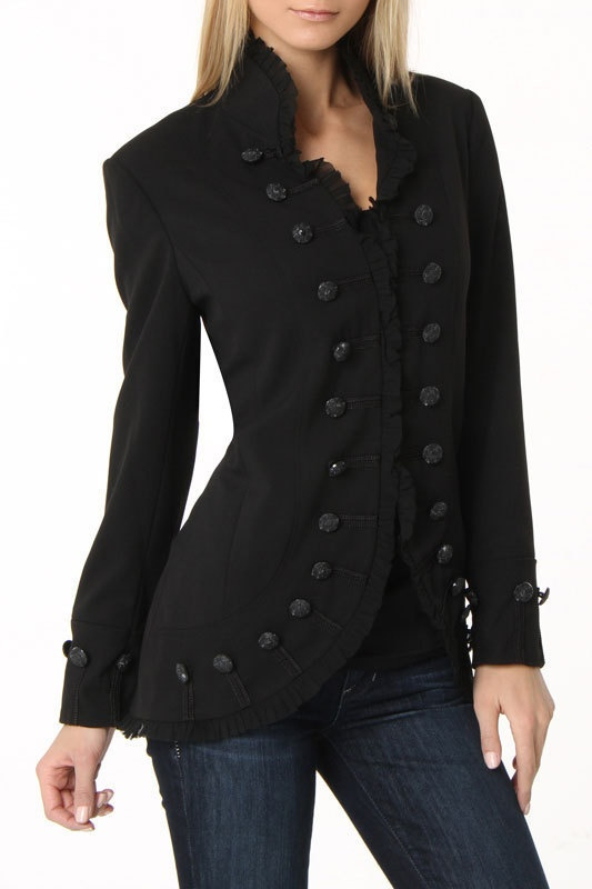 Military style jacket...I love jackets: Military Jackets, Style Jacket I, Steampunk Jackets, Jackets Hoodies, Style Jacket Want, Button, Military Style Jackets, Army Style, Coat