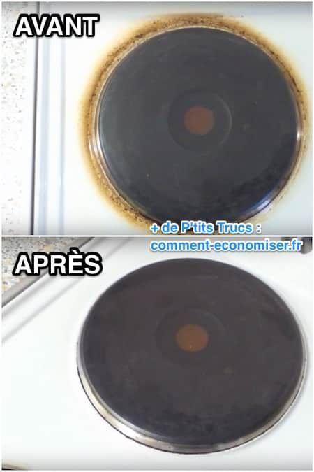 Utilisez du jus de citron pur pour nettoyer les plaques électriques facilement