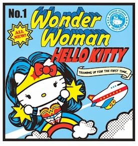 Hello Kitty Dc Comics Superhero Crossover I like this wonder woman kitty's hair more than the other one.