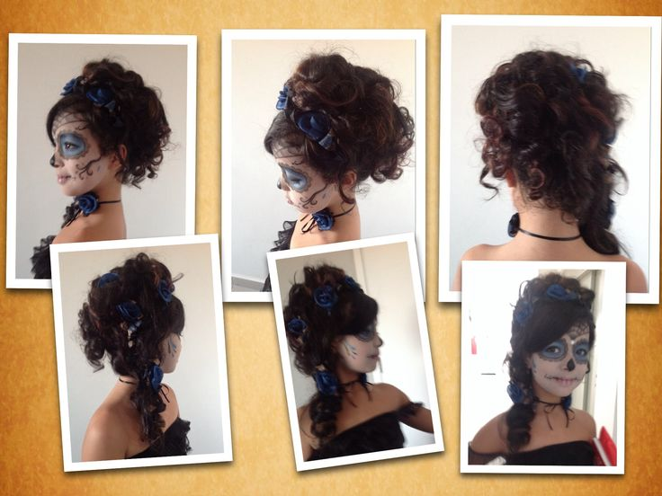 Hair for mexican skull costume
