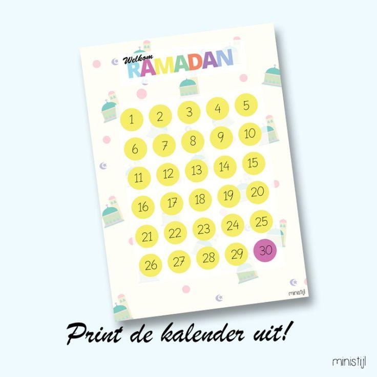Ramadan kalender maken: Printable - ministijl