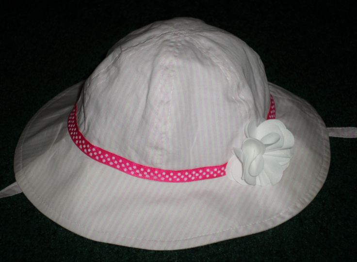 Infant Girls Sun Hats - Pretty Pink Spring And Summer Hat - Sweet Summer Hat For Baby Girls - Spring Hats For Baby - Hats For Little Girls by SugarBearHair on Etsy