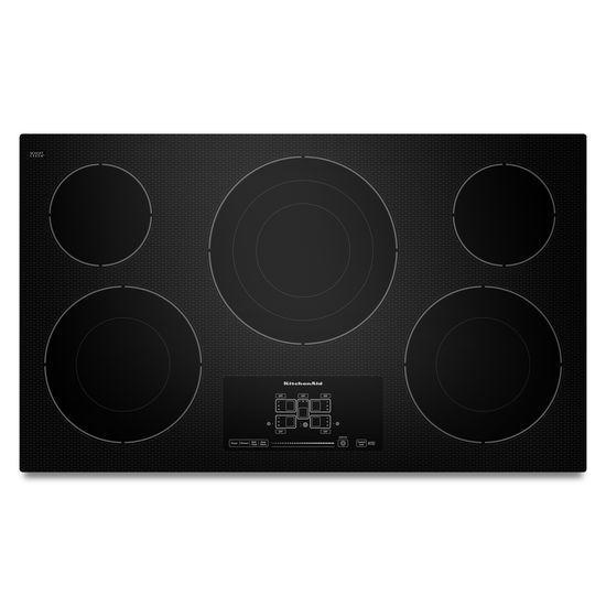 Kecc667bbl By Kitchenaid Electric Cooktops Goedekers Com Electric Cooktop Kitchen Aid Appliances Glass Cooktop