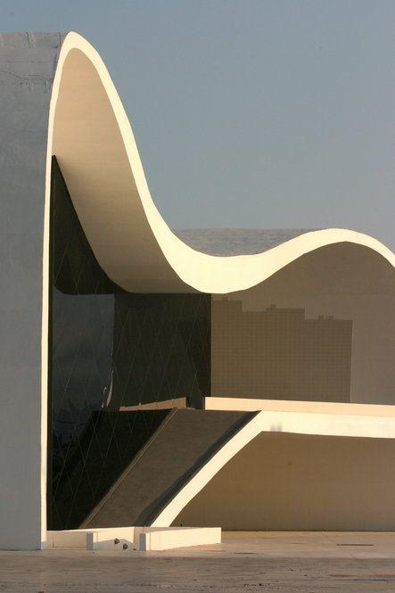 PURE SIMPLE GEOMETRY IN ARCHITECTURE BY THAT GENIUS: OSCAR NIEMEYER... Teatro Popular de Niterói... http://www.pinterest.com/freepin/oscar-niemeyer/