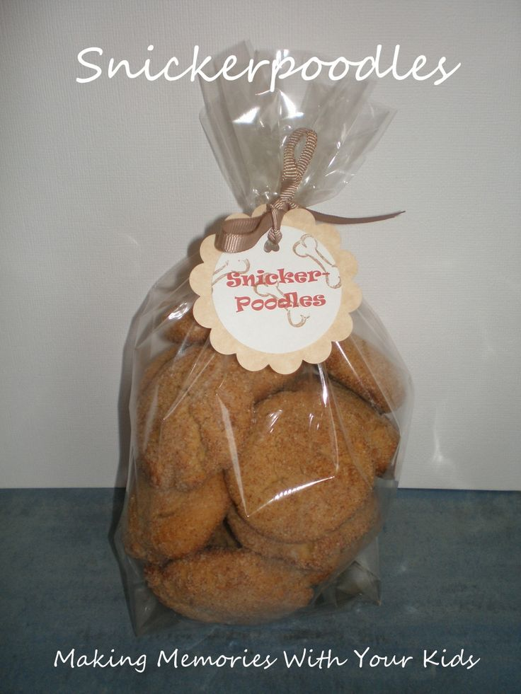 Snickerpoodle doggie treat, make treats for dogs to in cafe