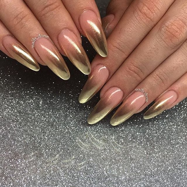How To Use Chrome Nail Powder Without Gel: Nails, Coffin Nails, Chrome Nails