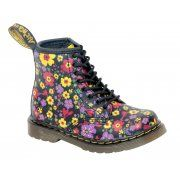 """Sizes : 6 To 9 whole sizes Dr. Martens """"Brooklee"""" Boots For Kids -  These tiny reproductions offer """"first-step friendly"""" flexible, yet sturdy soles combined with soft and durable leathers. To help avoid hassle, Dr. Martens has added a side zip to help parents get the boots on and off lil feet quickly and easily. http://www.marshallshoes.co.uk/childrens-c20/dr-martens-kids-brooklee-black-vintage-garden-softy-t-15373006-p2116"""
