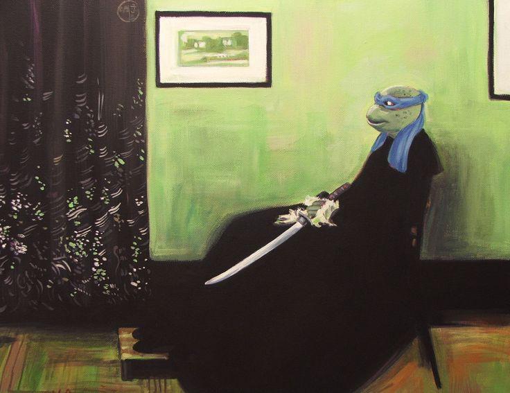 Whistler's Turtle (James Whistler's Whistler's Mother).  By Hillary White.