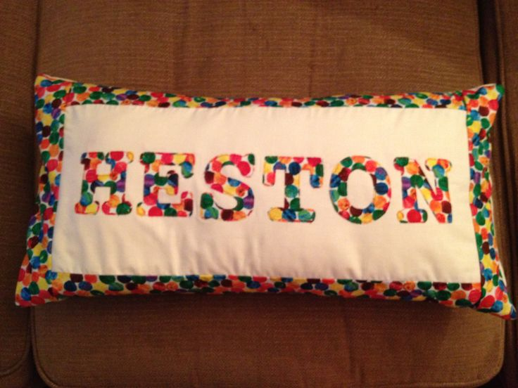 Cushion using Hungry Caterpillar Fabric