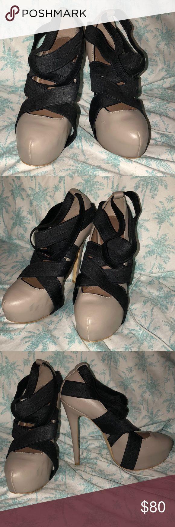 Colin Stuart nude bandage platform heels Step out like a Victoria's Secret model in these one of a kind size 7 nude bandage pumps. Colin Stuart Shoes Heels
