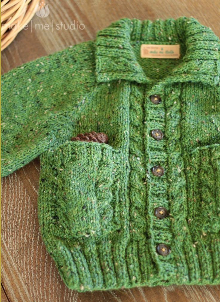 Jaeger 'George' Cardigan! Beautiful free knitting pattern!