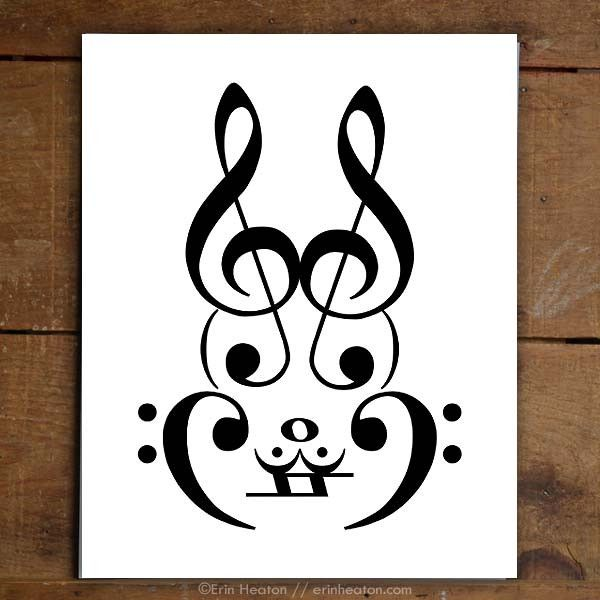 Rabbit Music Art Print