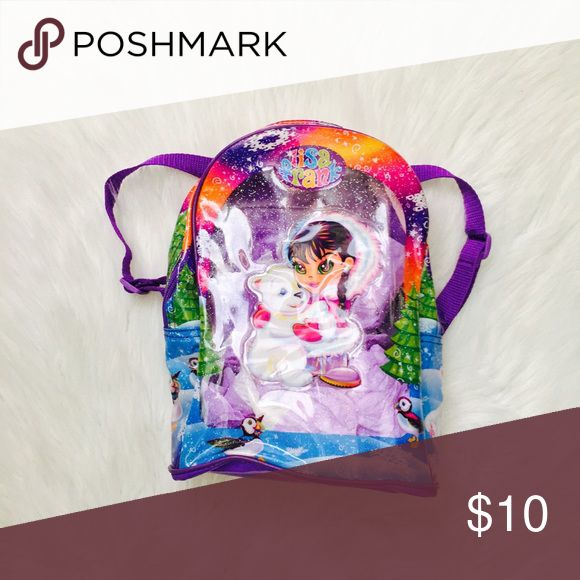 90's baby Lisa frank mini backpack ❤️ 90's baby 👶🏻 Lisa frank mini shimmer backpack. Please note-- there is a tear on the bottom :( not sure how that happened so this bag is priced to sell.. perfect for raves , festivals or just for whatevz bundle and save 10% lisa frank Bags Backpacks
