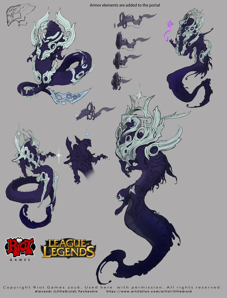 ArtStation - Part of my work on the character Aurelion Sol to League of Legends, Alexandr (LittleDruid) Pechenkin