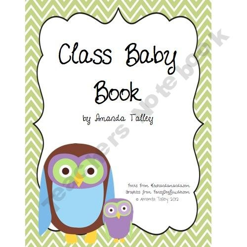 Baby book made by the students for a teacher on maternity leave