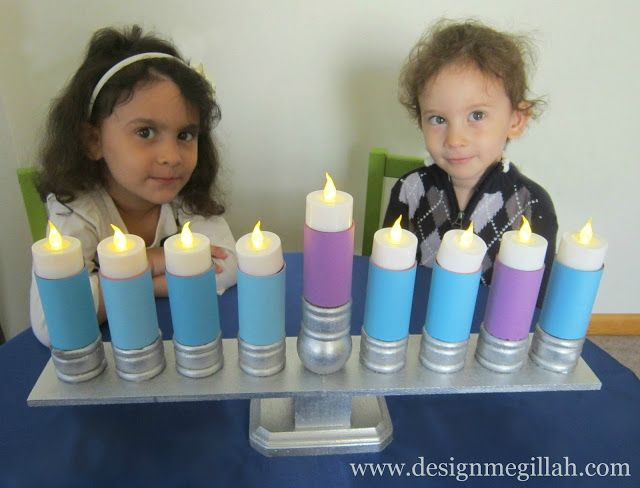 An Electric Menorah for Children