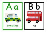 Road Transport Alphabet Cards | Free EYFS / KS1 Resources for Teachers