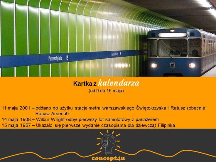 kartka z kalendarza (od 9 do 15 maja); więcej: www.concept4u.eu