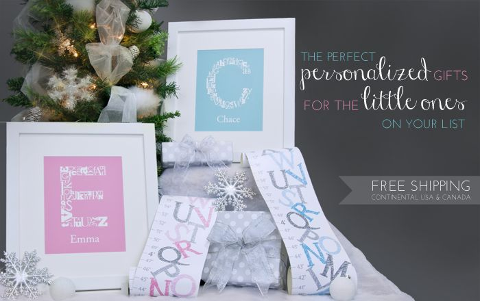 The perfect personalized gifts for the little ones on your list!  FREE Shipping! Click here to shop now!