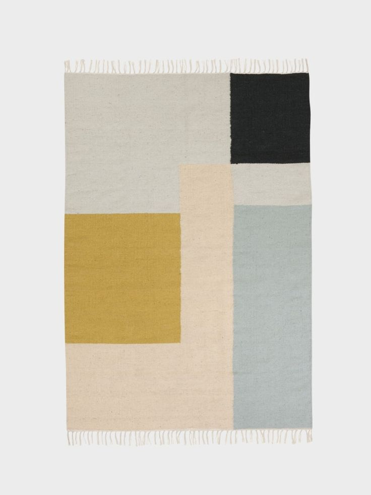 Kelim rug in 80% wool and 20% cotton with a significant graphic touch by ferm LIVING. Hand made and each piece is therefore unique. See more online.