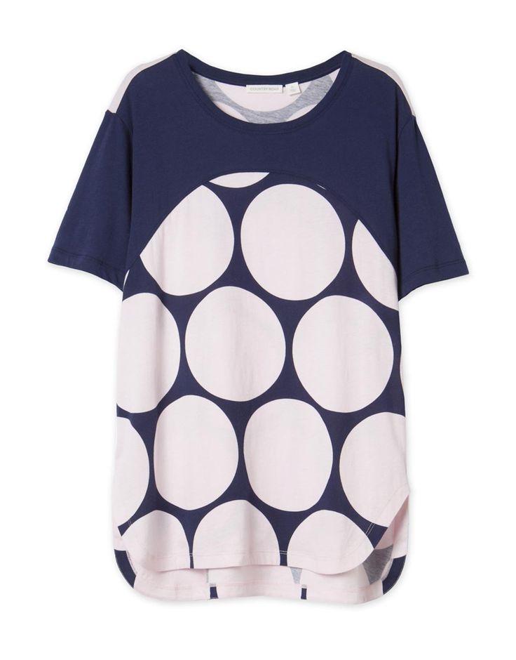 Circle Print Pyjama Top