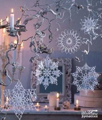 Crochet and arts: crochet Snowflakes