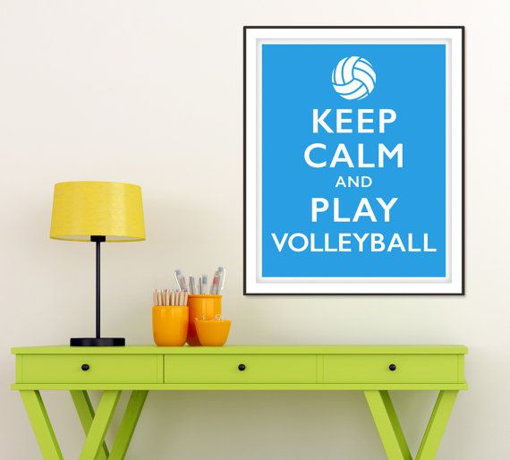 Keep Calm and Play Volleyball Motivational by RedCartStudios