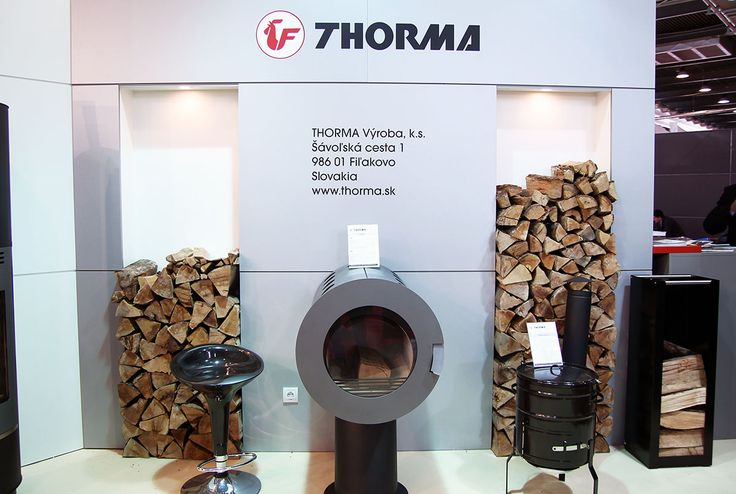 Round design for a stove by Thorma. More news on www.MaterialiCasa.com