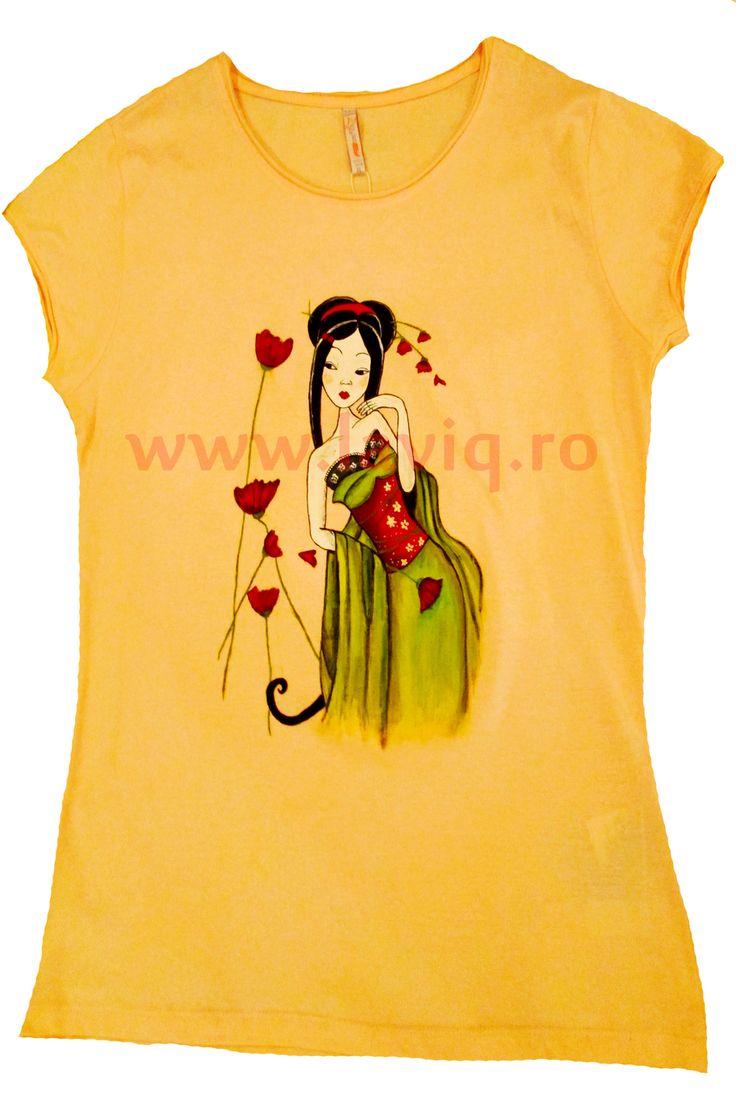 JAPANESE 7 - MACI Tricou, 100% bumbac, pictat manual in culori textile www.laviq.ro www.facebook.com/pages/LaviQ/206808016028814
