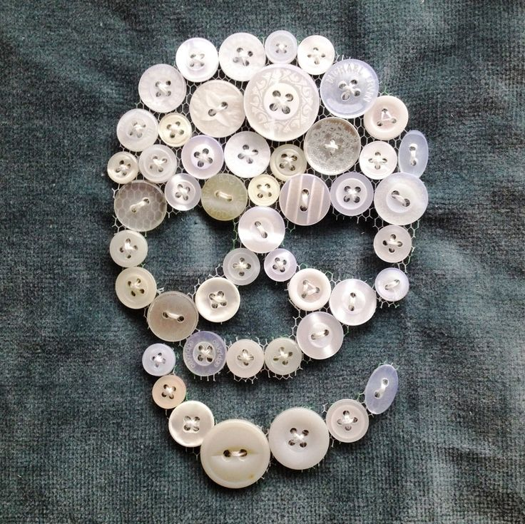 DIY button skull 86 best button art